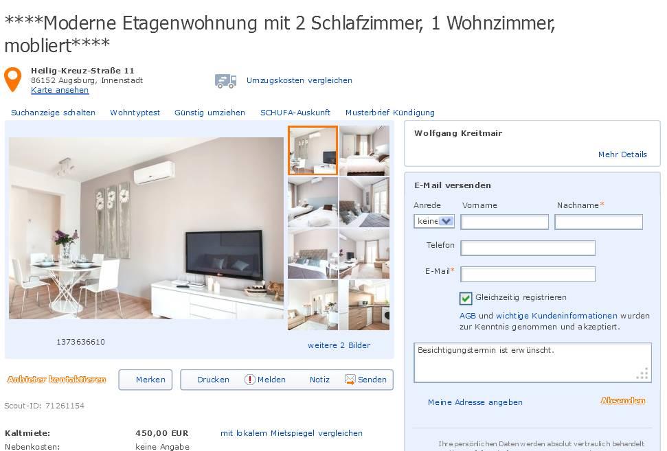 Zimmer Wohnung Augsburg