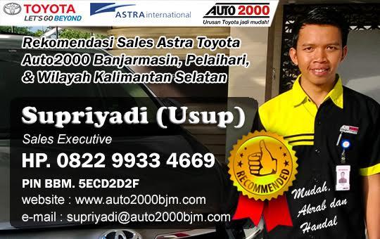 Rekomendasi Sales Toyota Terbaik Auto2000 Banjarmasin Pelaihari - Kalimantan Selatan
