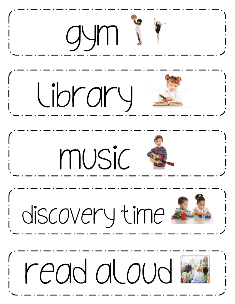 Living the Teaching Life: Schedule Cards