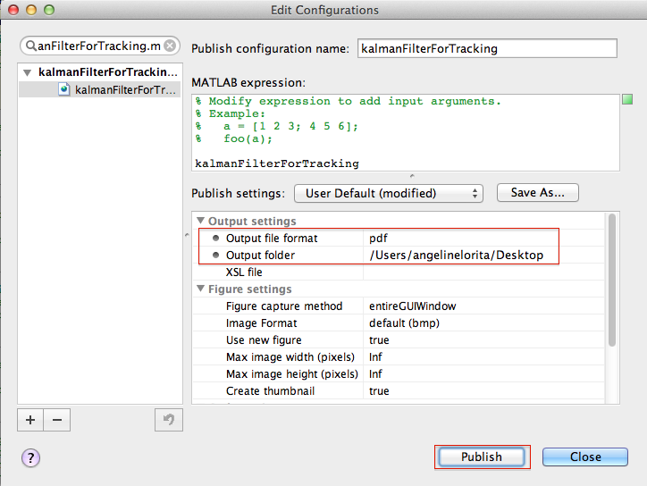 Export m-file as pdf in Matlab for Mac | Threads of Grad School Life