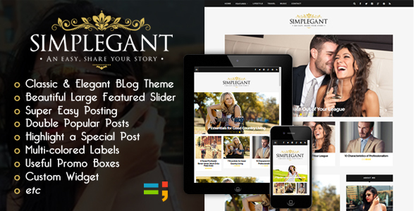 implegant is a Professional Blogger blogging subject Free Download New Simplegant - H5N1 Responsive Blogger Blog Theme