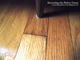 Removing scratches from a wood floor