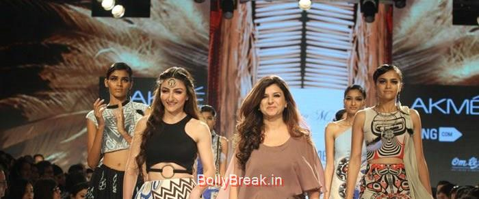 Soha Ali Khan, Babita M, Soha Ali Khan Hot HD Pics for Babita M Show at LFW Summer/Resort 2015