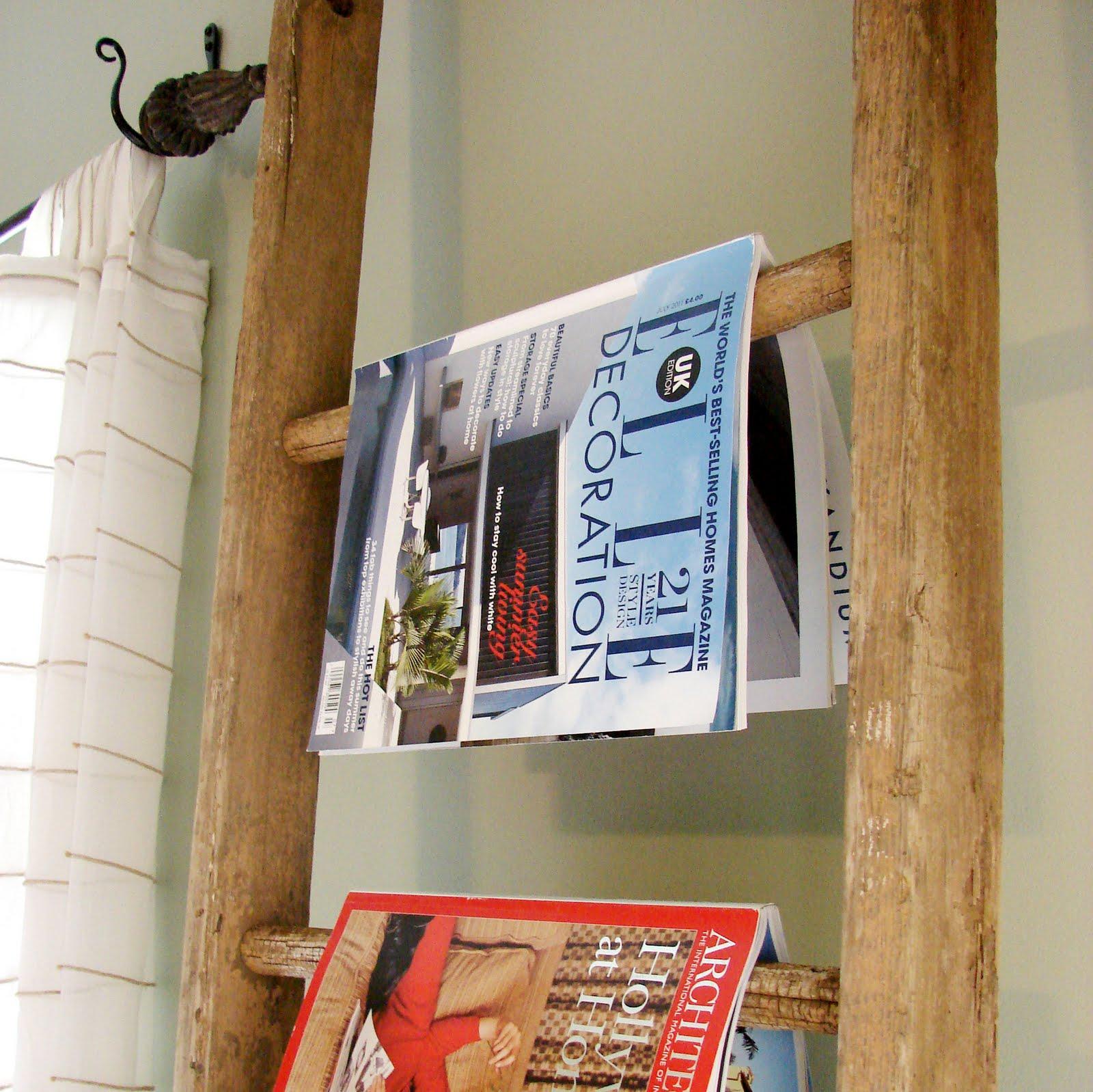 Diy Magazine Rack: Posies & Plume: Handmade Home : UPCYCLE DIY : Ladder