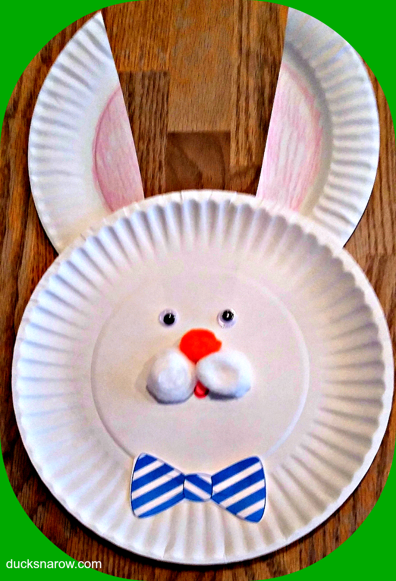 Easter Bunny Paper Plate Craft for Kids - Ducks 'n a Row