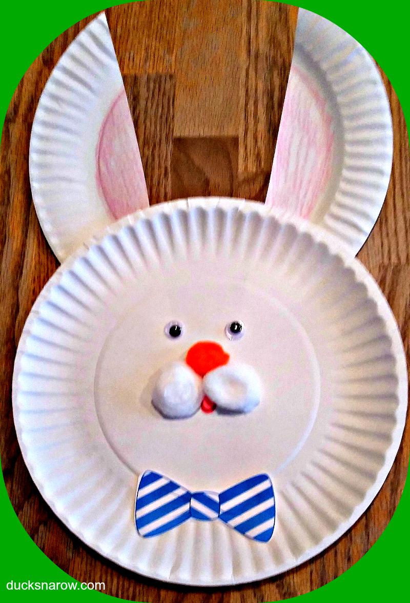 Easter holiday crafts preschool crafts bunny craft Easter bunny & Easter Bunny Paper Plate Craft for Kids - Ducks \u0027n a Row