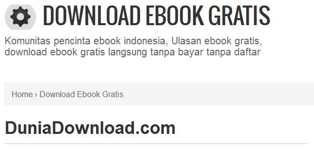 Situs Untuk Ebook Gratis Bahasa Indonesia