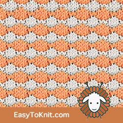 Slip Stitch Knitting 20: Rows of Circles | Easy to knit #knittingstitches #knittingpattern