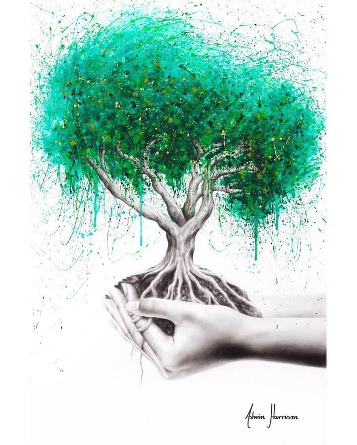 13-Green-Tree-Ashvin-Harrison-Acrylic-Paintings-www-designstack-co