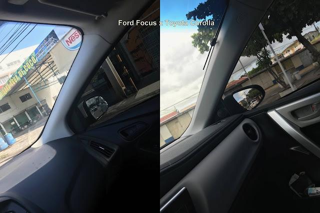 Toyota Corolla x Ford Focus - visibilidade
