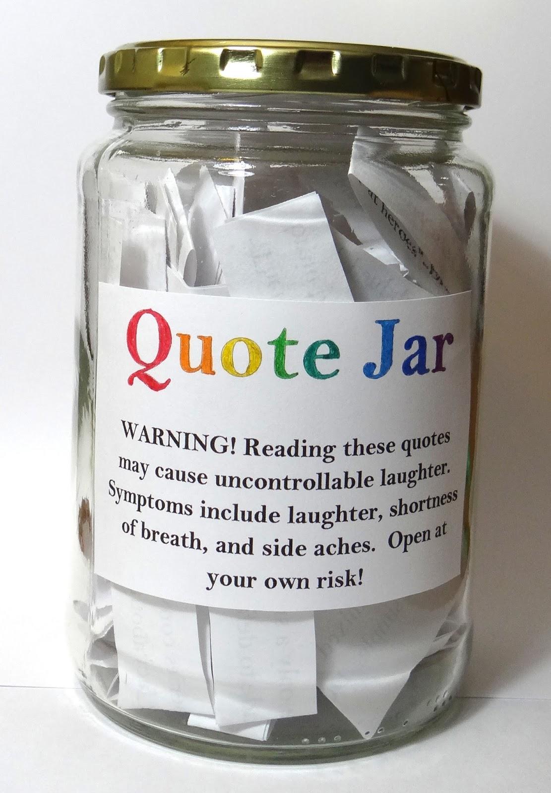 Amber's Craft A Week Blog: DIY Quote Jar