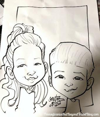 Caricatures by Jesse Falcone in Harrisburg, Pennsylvania