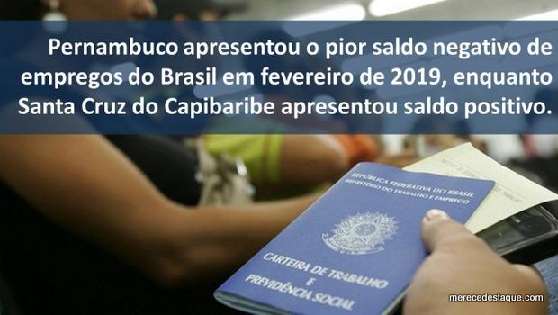Santa Cruz do Capibaribe apresenta saldo positivo em vagas de emprego em fevereiro, mostra levantamento da CDL e da ASCONT