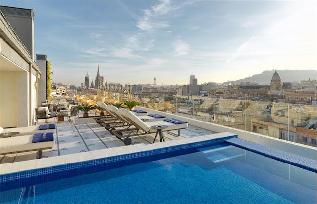 Cubik Hotel Barcelona Atik terrace chicanddeco