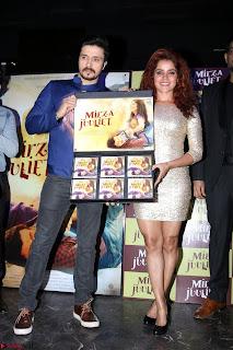 Pia Bajpai and Darshan Kummar Launching the Music of movie Mirza Juuliet 003.JPG