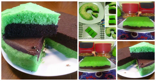 Resep Cake Kukus Modern: Resep Brownies Kukus Coklat Pandan Ekonomis. Tetap Enak