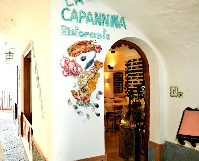 ristorante, via, isola, Capri