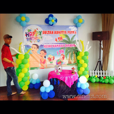 dekorasi balon ulang tahun sederhana