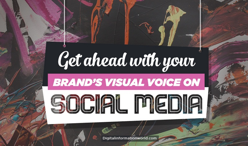 Get ahead with your brand's visual voice on #socialmedia - #infographic #contentmarketing