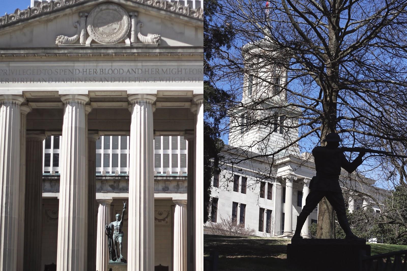 Architecture in Nashville, Andrew Jackson Nashville, Nashville State Capitol, Nashville Travel Guide
