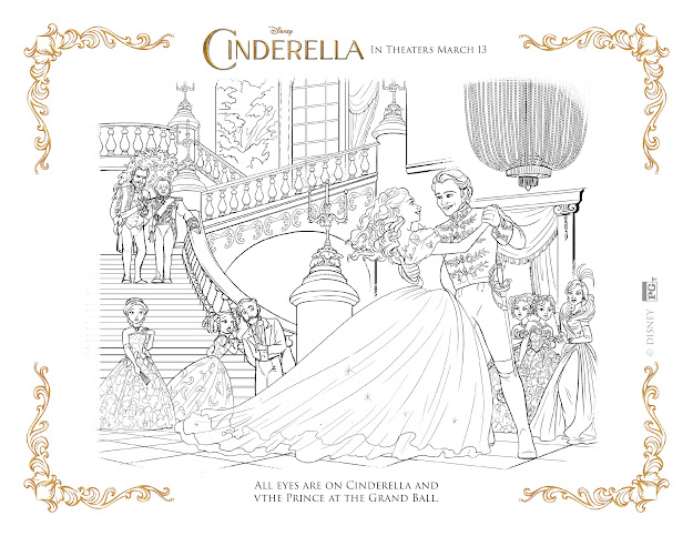 Cinderella Coloring Page  Cinderella And Prince At The Ball