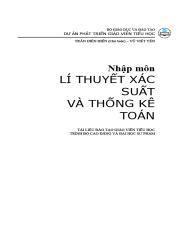 Nhập môn lý thuyết xác suất và thống kê toán - Trần Diên Hiền, Vũ Viết Yên