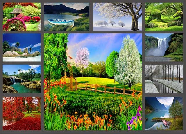 Fondos para fotomontajes paisajes