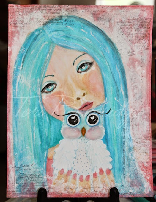 Girl with Owlet by Tori Beveridge