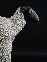 Mélanie Bourlon : Mouton - Exposition Sur les traces d'Hubert Robert - Galerie de la Marraine