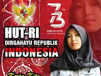 Design Ucapan HUT-RI Dirgahayu Republik Indonesia Ke 73