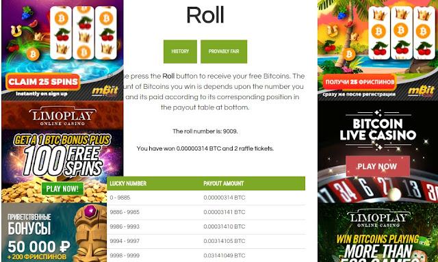 Roll Bitcoin free
