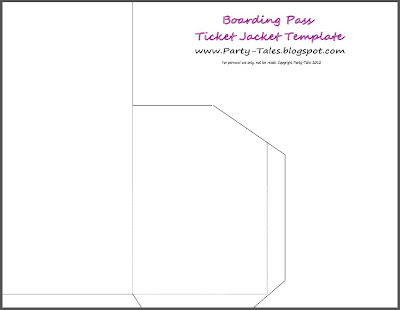 boarding pass sleeve template party tales tutorial diy how to make a boarding pass