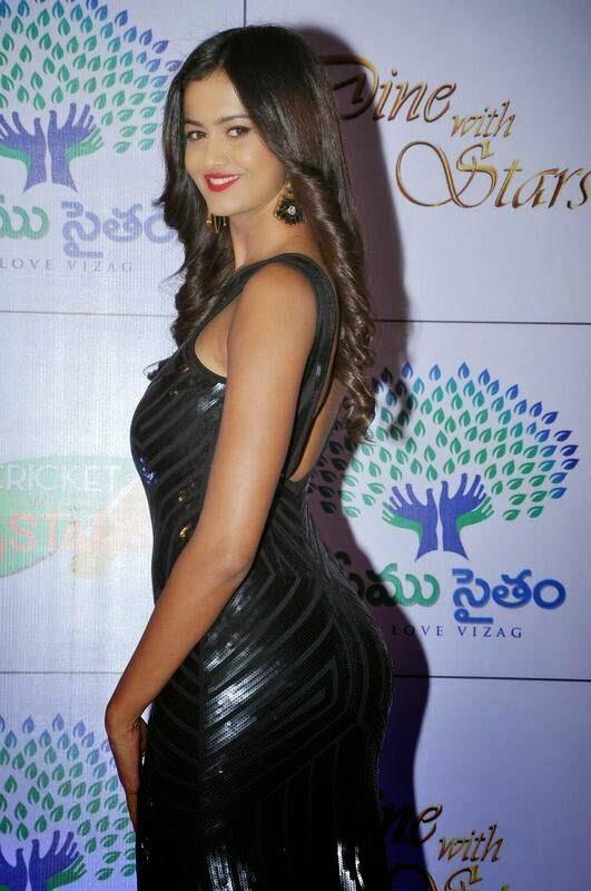Shubra Aiyappa Pictures, Shubra Aiyappa hot Pics in Black Tight Dress - Indian Kim Kardashian