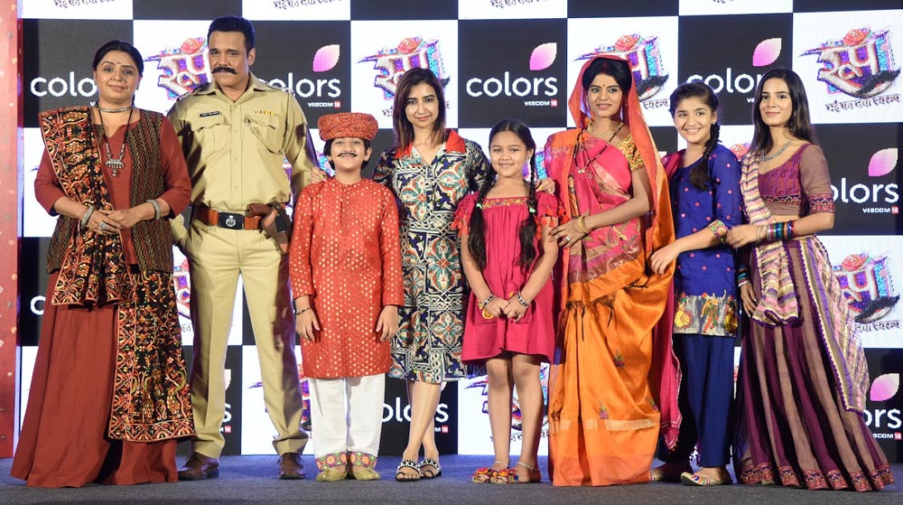 Vaishalee Thakkar, Yash Tonk, Afaan Khan, Producer Rashmi Sharma from Rashmi Sharma Telefilms, Tasheen Khan, Mitaali Nag, Ananya Agarwal and Nikki Sharma at launch of COLORS' ROOP- Mard ka naya Swaroop