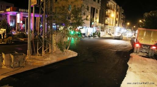 Bozova prestij caddesi asfaltlanıyor