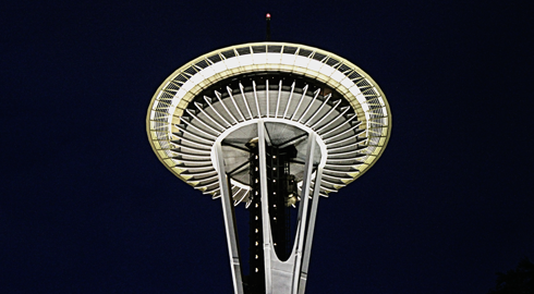 space needle night photography seattle