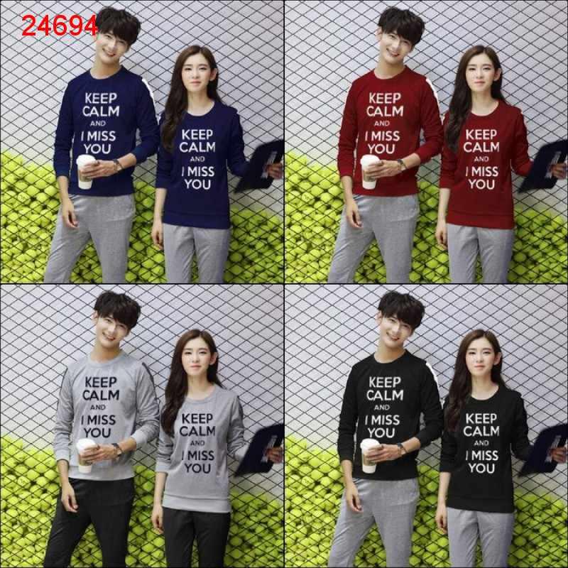 Jual Sweater Couple Sweater Keep Calm - 24694