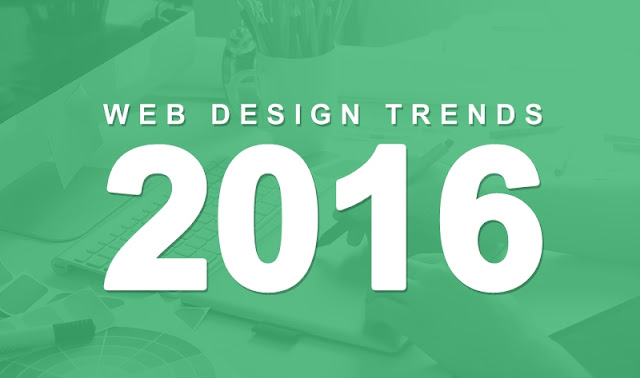 Web Design Trends 2016 - #infographic