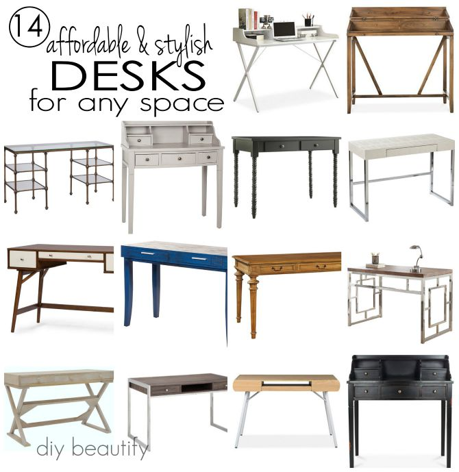 14 Stylish And Affordable Desks For Your Home Get The Sources At Diy