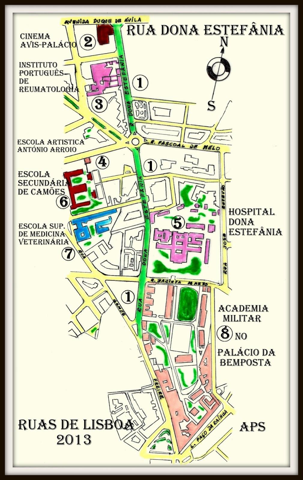 estefania lisboa mapa RUAS DE LISBOA ALGUMA HISTÓRIA: RUA DE DONA ESTEFÂNIA [ I ] estefania lisboa mapa
