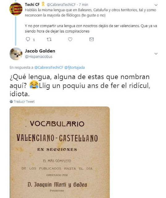 Techi CF VS Golden Jacob, Techi CF VS Golden Jacob, qué lengua, alguna de estas que nombran aquí? Llig un poquiu ans de fer el ridícul, idiota.