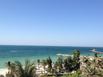 Kempinski Hotel Ajman view of the beach from terrace