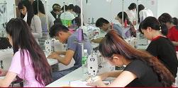 Thông báo tuyển sinh các lớp cắt may công nghiệp