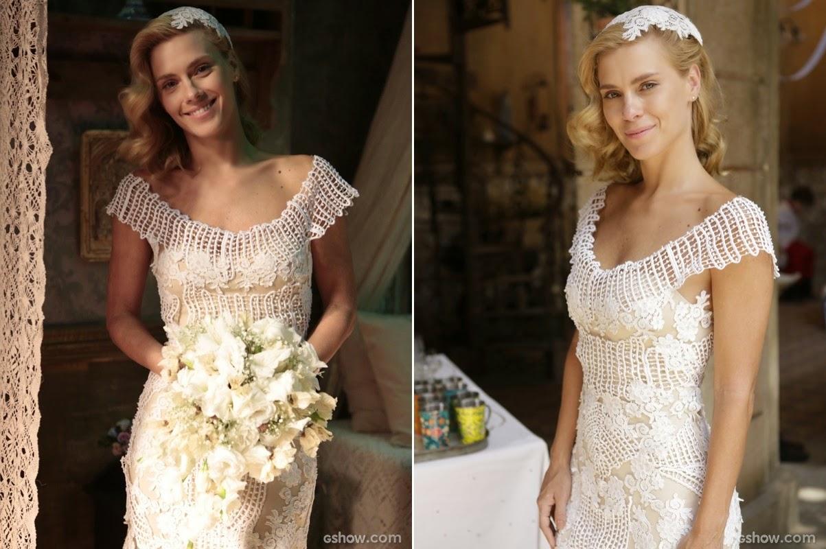 novela Joia Rara carolina dieckmann vestido noiva