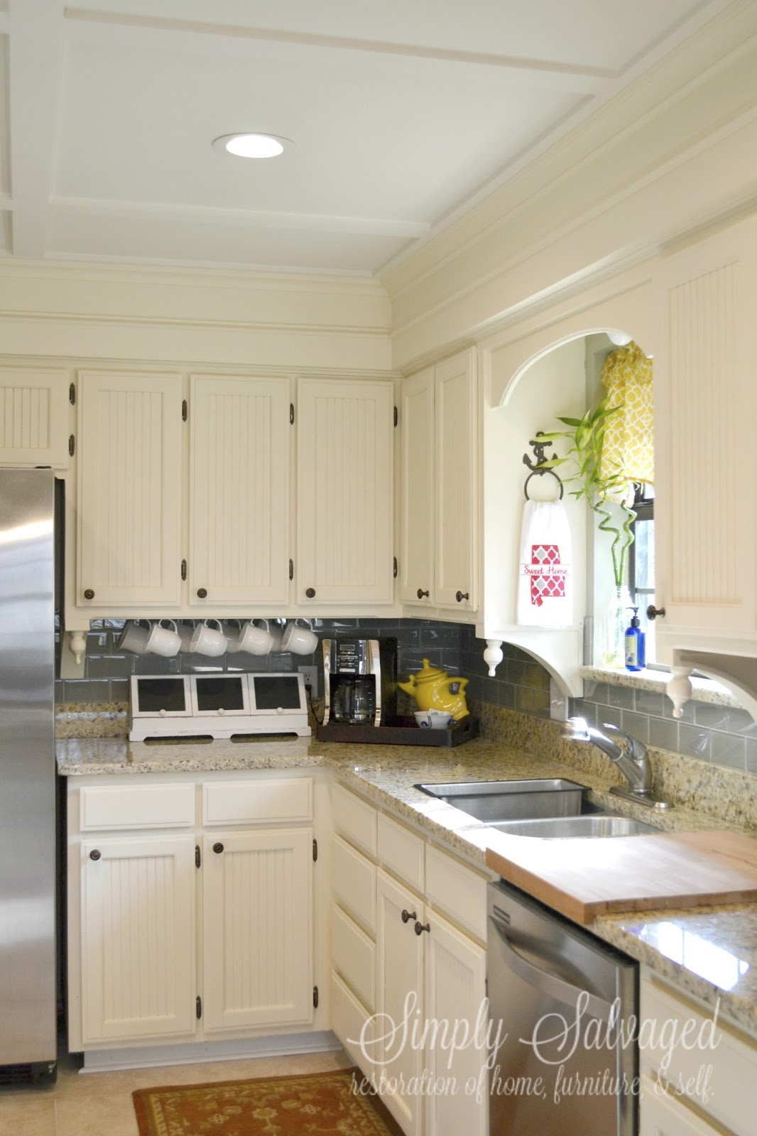 Simply Salvaged: How to Dress up Your Boring Cabinets