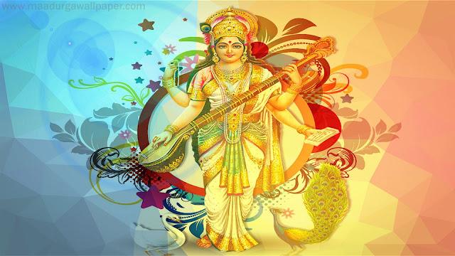 Best Maa Saraswati HD Wallpaper For MacBook