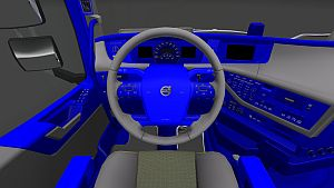 Blue & Grey interior skin for Volvo 2012