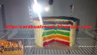 Foto Kue Pelangi Empuk Lezat 10 cm