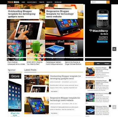 Template Blogspot - TechBlog -  Responsive