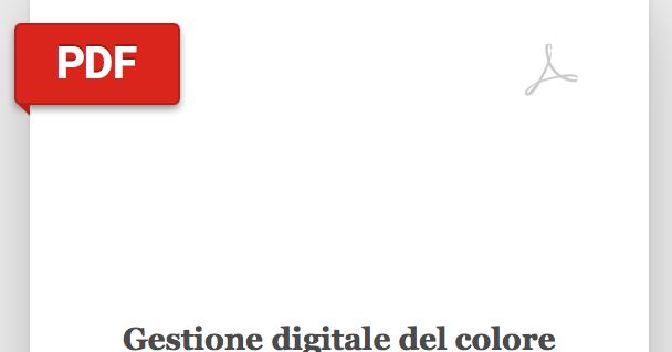 Gestione digitale del colore nell'industria della stampa @ Mauro Boscarol